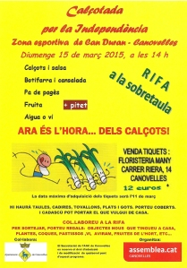Canovelles Cartell 150315_Calçotada_ANC