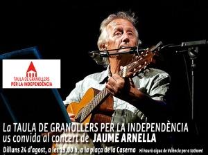 Concert Jaume Arnella_Taula Granollers independència 24-08-2015