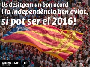 Us desitgenm un bon acord i la independència pel 2016! copia