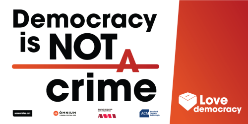 Postal Facebook Love Democracy - Democracy is not a crime